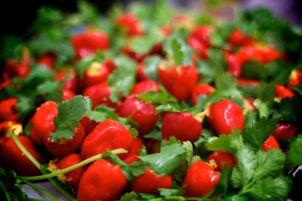 Plantain & Mango Stuffed Peppers